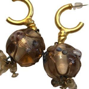 5/$20 Vintage Lampwork Glass Bead Earrings